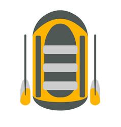 Raft icon tourism equipment vector