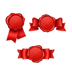 realistic sealing wax collection vector image