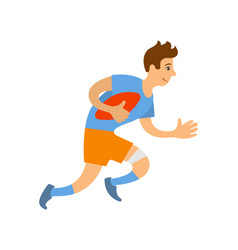 rugleague football game isolated character run vector image