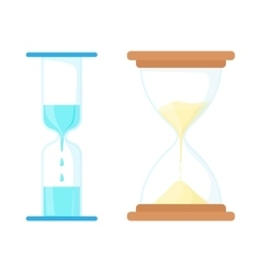 Sand and water hourglasses icon cartoon style vector