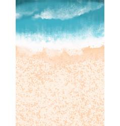 Sand beach with ocean wave background0 vector