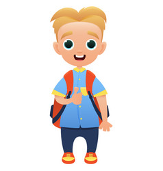 schoolchild cute cartoon character vector image