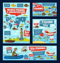 Sea ocean and lake fishing sport vector