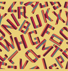seamless pattern background alphabet vector image