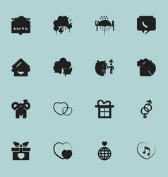 set of 16 editable amour icons includes symbols vector image
