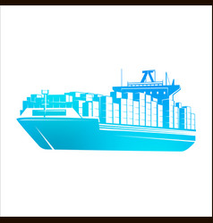 ship vector image
