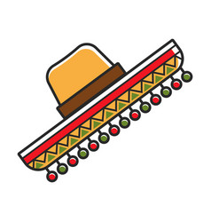Sombrero hat for mexico travel destination vector