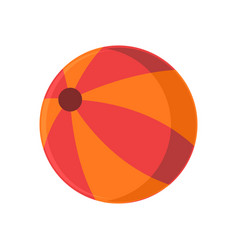 summer orange beach ball stuff icon design vector image