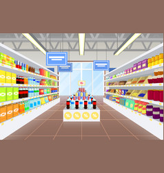 Supermarket and product poster vector