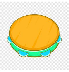 Tambourine icon cartoon style vector