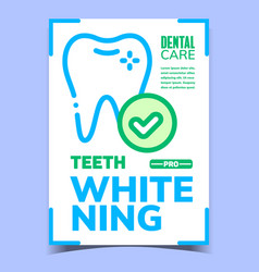 Teeth whitening creative advertising poster vector