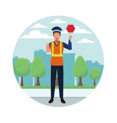 Transit agent profession avatar vector