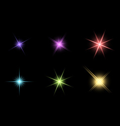 Transparent star symbol icon design beautiful of vector