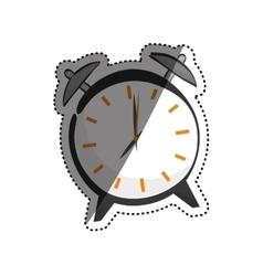 Vintage clock with alarm vector