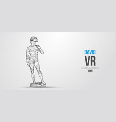 vr abstract silhouette virtual reality glasses vector image
