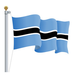 waving botswana flag isolated on a white vector image