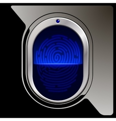 Black Fingerprint scanner vector image