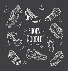 boots doodle collection vector image