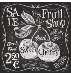 cherry ripe logo design template fresh vector image vector image