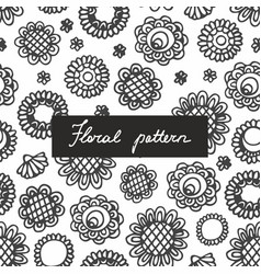 seamless pattern with small plants and flowers vector image vector image