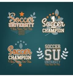 Soccer Badges Set vector image vector image