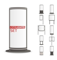 Advertise citylights set vector image vector image