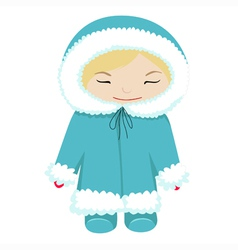baby in winter dress vector image vector image