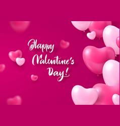 congratulatory card happy valentines day heart vector image vector image