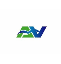 Letter a and V logo vector image