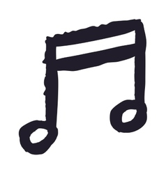 music note drawing isolated icon design vector image