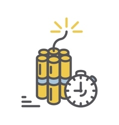 Dynamite icon thin line vector image