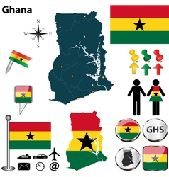 Ghana map vector image vector image