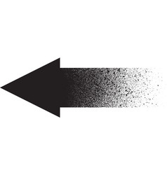 Graffiti sprayed gradient arrow in black vector