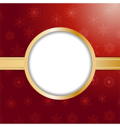 Red christmas background and border vector image