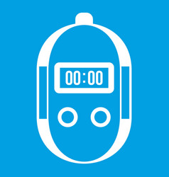 stopwatch icon white vector image