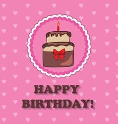 Birthday design over pink background vector image vector image