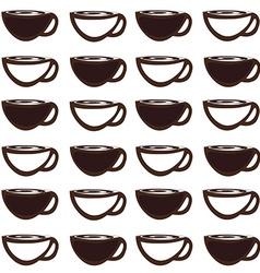 Coffee mug pattern vector image