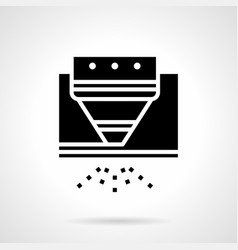 gas cutting glyph style icon vector image vector image