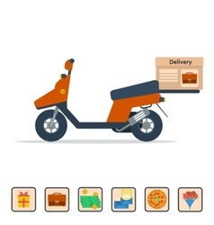 Scooter to deliver goods vector image
