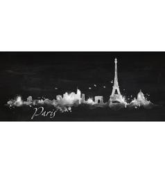 Silhouette chalk Paris vector image vector image