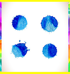 watercolor splash background set vector image