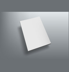 3d brochure with blank cover fly on grey back vector image