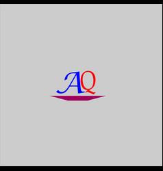 A q joint letter logo monogram design vector