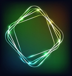 Abstract neon background with rounded rectangle vector image