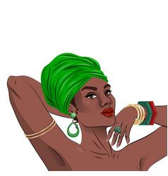 African american black beauty woman portrait vector