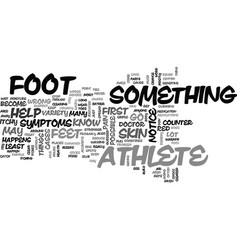 athletes foot text word cloud concept vector image