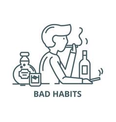 Bad habits line icon bad habits outline vector