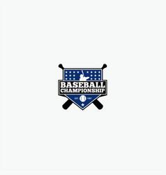 baseball2 logo design vector image