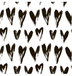 beautiful seamless heart pattern vector image