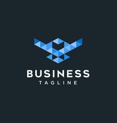 Bird digital logo design inspiration vector